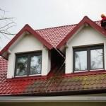 czyszczenie dachów porośniętych mchem